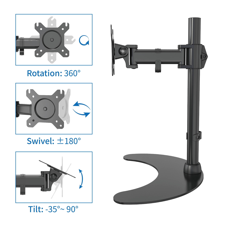 Full Motion Ergonomic Monitor Arm 5